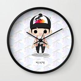 Chibi Jimin (Fire) Wall Clock