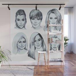 Keeping up 2 (Kardashians) Wall Mural