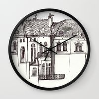 brussels Wall Clocks featuring Brussels by MadmFia