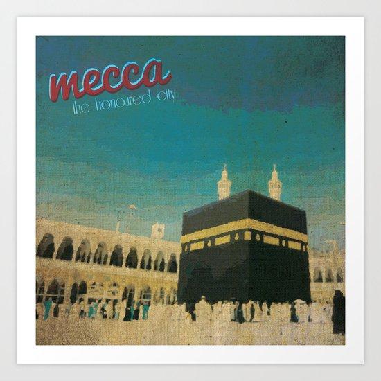 Mecca Art Print