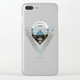 Mountain Lake Triangles Clear iPhone Case