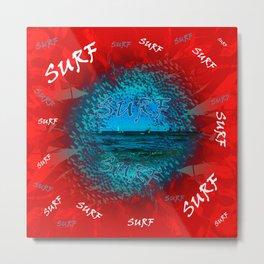 Surf #### Metal Print