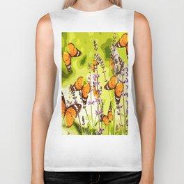 Butterflies and flowers - summery atmosphere in late summer - #pivivikstrm #buyart Biker Tank