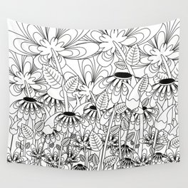 Daisy Floral Pattern 6 Wall Tapestry
