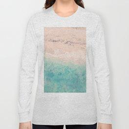 Aerial sea photography, exotic beach, fine art, wanderlust, coral reef, tropical landscape, summer Long Sleeve T-shirt