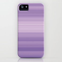 Pastel Ultra Violet Gradient Stripes Trendy Color of the year 2018 iPhone Case