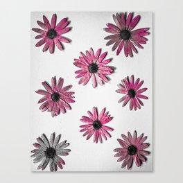 Crazy Pink Flower Print Canvas Print