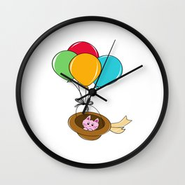 Kitty Traveling Wall Clock