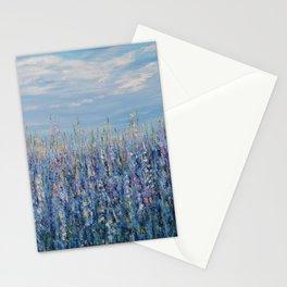 Flower Field Landscape, Blue Home Decor, True Blue Stationery Cards