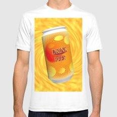 Drink Beer  Mens Fitted Tee White MEDIUM