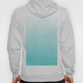 Modern teal watercolor gradient ombre brushstrokes pattern Hoody