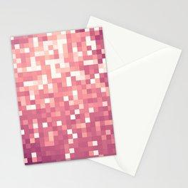 Rose Pink Mauve Pixels Stationery Cards