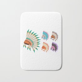 Tribe Leader Hat American Indian Heritage Day Bath Mat
