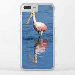 Roseate Spoonbill at Ding IV Clear iPhone Case
