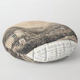 University of Virginia, Charlottesville & Monticello (1856) Floor Pillow