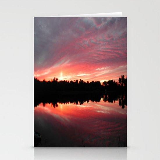 Lake Sky Stationery Cards