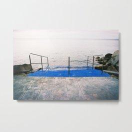 GRAND RESORT SERIES. Mediterranean Sea, Photo, Color Film, Analog Metal Print