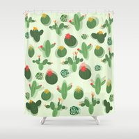 succulent Shower Curtains featuring Succulent by Kakel