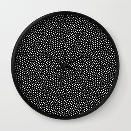 Little Dots Black Wall Clock