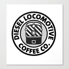 Diesel Locomotive Coffee Co. Canvas Print