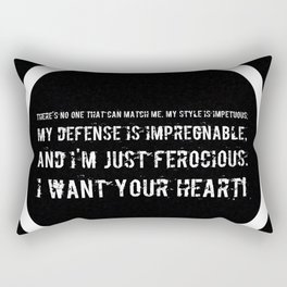 Impetuous, Impregnable, Ferocious, Heart Rectangular Pillow