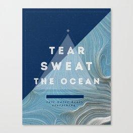 Salt water heals Canvas Print