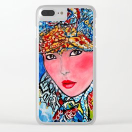 LUNA #society6 #decor #buyart My artwork is featured in MagCloud, Pink Panther Magazine, issue 25 Clear iPhone Case