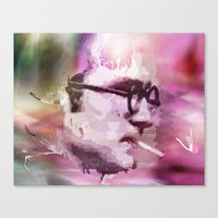philosophy Canvas Prints featuring Philosophy Thinker by Alex Oprea