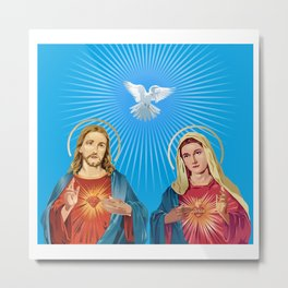 Jesus Christ and the Virgin Mary Metal Print