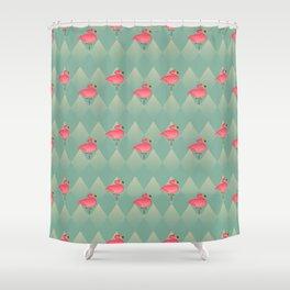 Sugar Flamingo Pattern Shower Curtain