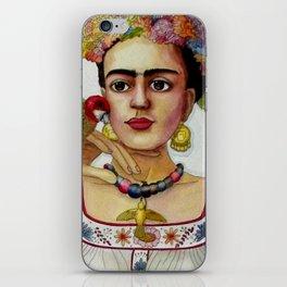 Frida Kahlo in the garden iPhone Skin