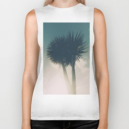 Sun blasted Palm trees Biker Tank