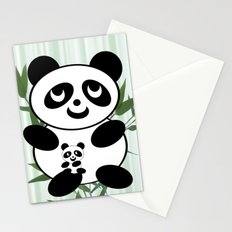 Panda mom and Baby Stationery Cards
