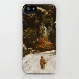 "Gustave Courbet ""Winter in the Jura"" iPhone Case"