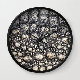 Crocodile Scale Wall Clock