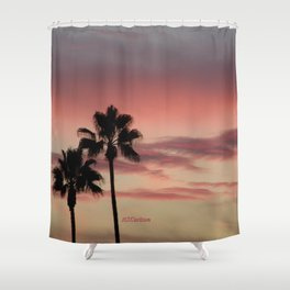 Atmospherics Number 3: Two Palms in the Sunset Shower Curtain