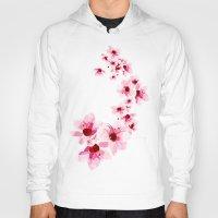cherry blossom Hoodies featuring Cherry Blossom  by Luiz C.