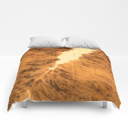 Burnt Orange Texas Longhorn Animal Leather Pattern Comforters