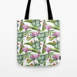 Flamingo Jungle #society6 #buyart Tote Bag