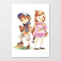 gravity falls Canvas Prints featuring Gravity Falls by Archiri Usagi