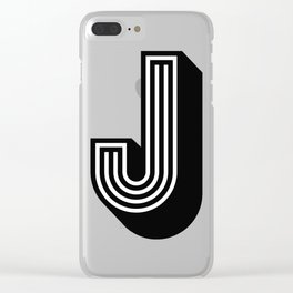 Letter J Clear iPhone Case