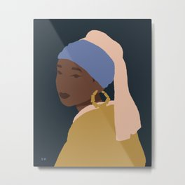 The Girl With A Bamboo Earring Metal Print