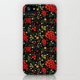 Khokhloma print iPhone Case