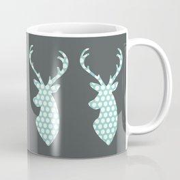 Deer head, art, polka dot, modern, vintage Coffee Mug