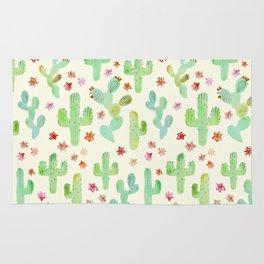 Watercolor Cacti Rug