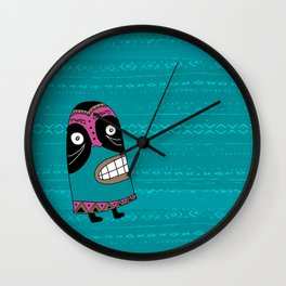 African Mask Wall Clock