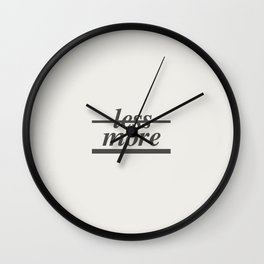 Typography Wall Clock