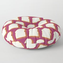 Peanut Butter & Jelly Sandwich Pattern Floor Pillow