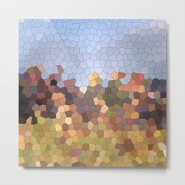 Autumn landscape - abstract mosaic background Metal Print