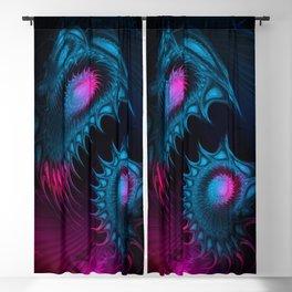 Deep-Sea Bioluminescence. Fractal Abstract Fantasy. Blackout Curtain